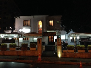 Shakes Beer, Tirana, Albania...where last nights events occurred.