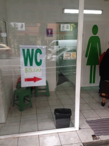 Pay toilets in Mexico!