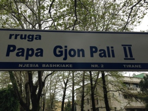 So many signs in Albanian you can figure out.