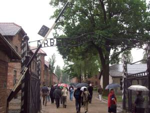 Bad pic, Gate at Auschwitz.A new world point of view after this visit.
